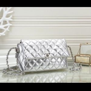 Chanel silver bag